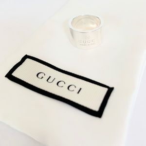 BRAND NEW authentic GUCCI trademark silver ring